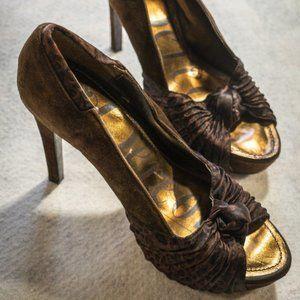 Dereon Size 8.5 Animal Print High Heel, Suede